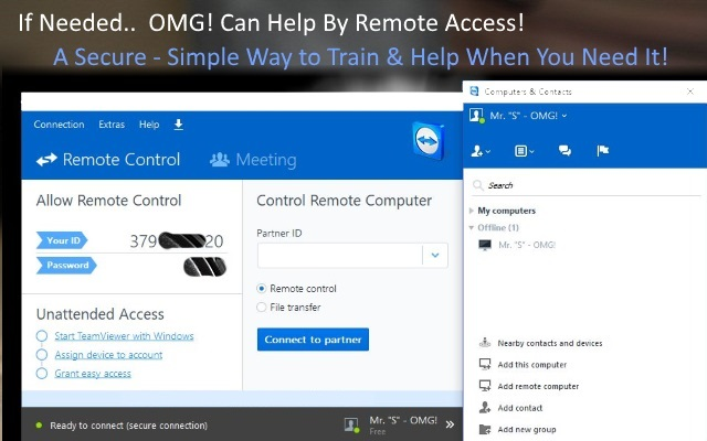 Get Help by Remote Access!